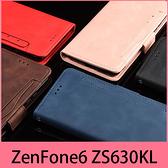 【萌萌噠】ASUS ZenFone 6 ZS630KL (6.4吋) 復古皮紋 多卡槽側翻平板皮套 磁扣 支架 全包軟殼 平板套