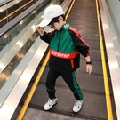 男童套裝童裝男童套裝中小兒童男孩時髦帥氣兩件套洋氣