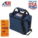 【AO COOLERS】酷冷軟式輕量保冷托特包-12罐型-海軍藍 強力防漏內襯