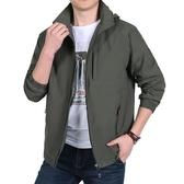 春秋季夾克男裝冬季加絨加厚戶外衝鋒衣男士加肥加大碼號外套  亞斯藍