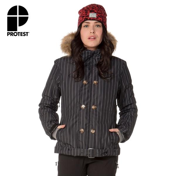 PROTEST 女 機能防水保暖外套 (真實黑) PERSIS SNOWJACKET