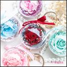 玫瑰永生花鑰匙圈珍珠掛飾(5色可挑) 生日禮物 母親節禮物 情人節禮物 聖誕禮物 婚禮小物 送閏蜜