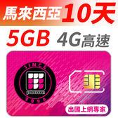 【TPHONE上網專家】馬來西亞 無限上網卡 10天 前面5GB支援高速