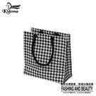 手提袋-編織袋(S)-黑白千鳥-03C...
