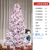 聖誕樹 聖誕節裝飾品白色植絨1.2 1.5 1.8 2.1 3米家用粉小型聖誕樹套餐T