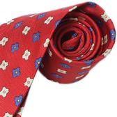 極品西服 復古新意小花100%絲質領帶_YT1016 (紅)