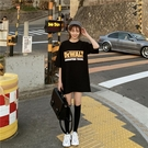 印花短袖女 韓國東大門短袖t恤女裝夏季新款bf印花下衣失蹤寬松ins上衣潮 寶貝計書