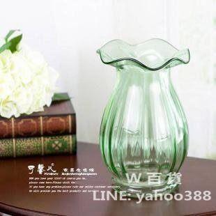 水晶玻璃花瓶器 新古典馬蹄蓮口/荷葉邊   巴倫西亞風格 4色選一