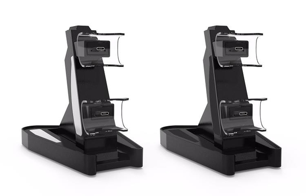 PS5手柄座充PS5手柄轉燈充電座 PS5飛機充 PS5雙充 PS5飛機雙座充