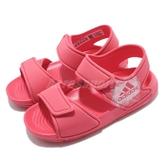 adidas 涼拖鞋 Altaswim I 粉紅 白 童鞋 小童鞋 魔鬼氈 【PUMP306】 BA7868