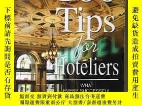 二手書博民逛書店英文原版罕見100 Tips for Hoteliers 原版庫