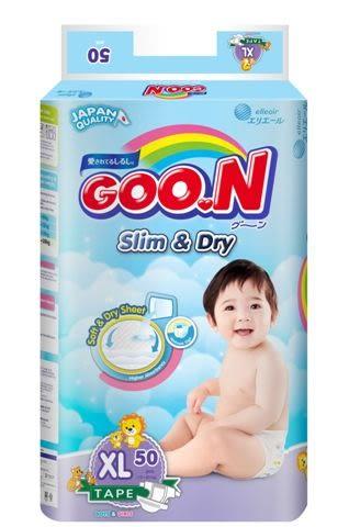 日本大王GOO.N 國際版黏貼型紙尿褲XL50片(串)