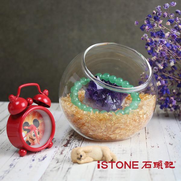 療癒星球 (水晶砂+粉晶球組) 水晶淨化消磁球 辦公桌景觀擺飾 石頭記