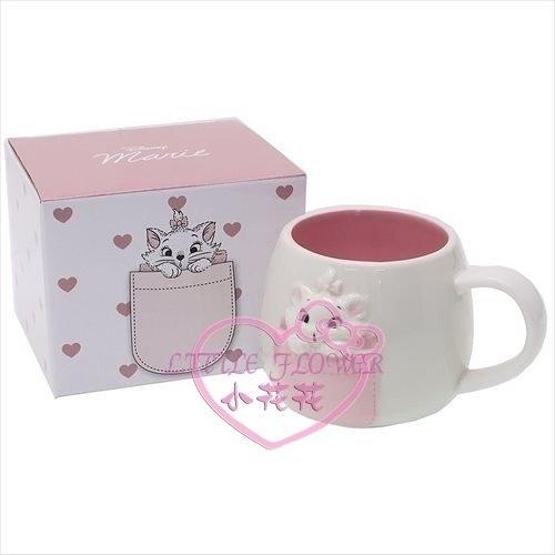 ♥小花花日本精品♥Marie瑪莉貓立體凸面馬克杯陶瓷馬克杯300ml水杯茶杯11298700