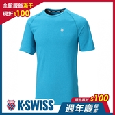 K-SWISS PF Logo Tee排汗T恤-男-藍