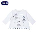 chicco-花瓣公主-立體繡花長袖上衣