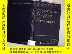 二手書博民逛書店ENDOCRINOLOGY罕見AND METABOLISM CLINICS OF NORTH AMERICA:Au