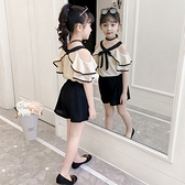 女童夏裝洋氣套裝2020新款中大童時髦網紅夏季兒童小女孩兩件套潮