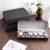 皮質拉錬式手錶收納盒便攜創意首飾盒手錶盒商務收藏展示盒【蘇迪蔓】