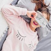 雙十二狂歡 睡衣女秋冬加厚珊瑚絨長袖韓版學生寬鬆套裝