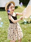 女童連身裙女童夏裝新款洋氣兒童連身裙夏季公主裙中大童小女孩裙子短袖聖誕交換禮物