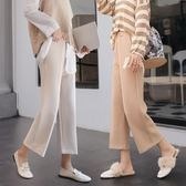 闊腿褲女 高腰直筒寬鬆學生 女士休閒褲子大碼 降價兩天