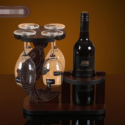 紅酒架擺件歐式葡萄酒杯架客廳倒掛高腳杯架家居擺件客廳裝飾品 暖心生活館