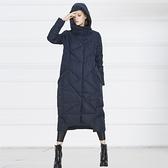 羽絨夾克-連帽冬季防寒保暖長款女外套3色73pv1[巴黎精品]