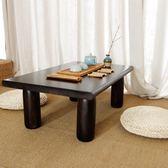 日式實木飄窗桌小桌子簡約榻榻米飄窗茶幾創意實木地臺桌