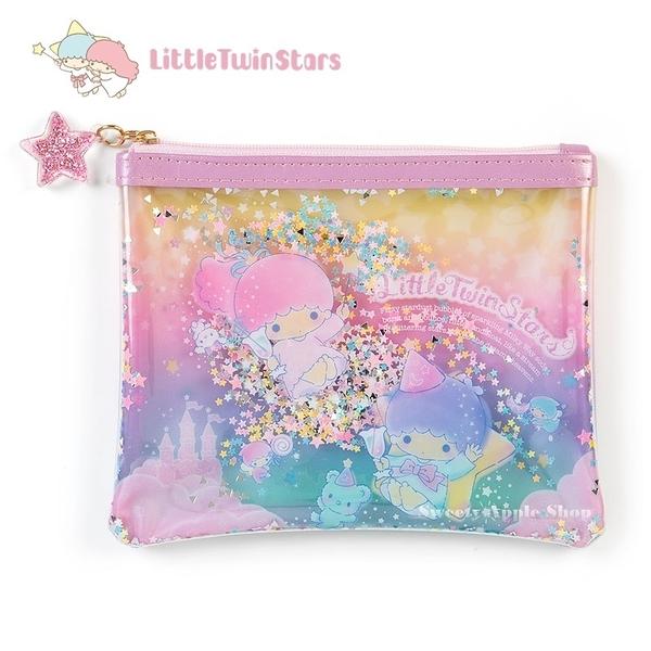 日本限定 三麗鷗 雙子星 KIKI&LALA 銀河系列 亮片收納包 / 化妝包 (S)