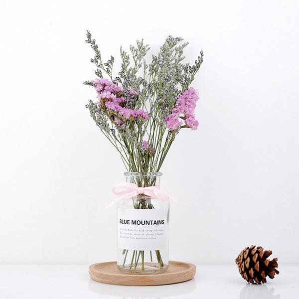 【BlueCat】夢幻 卡斯比亞 星辰 乾花玻璃瓶裝 拍照道具 乾燥花 花瓶