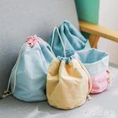 束口袋 抽繩布藝旅行外出簡約便攜式收納包桌面雜物收納袋 KB8574【歐爸生活館】