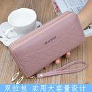 2019韓版新款錢包女長款大容量雙拉鏈手拿包零錢硬幣包手機收納包