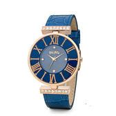FOLLI FOLLIE  DYNASTY 系列腕錶  WF1B029SSU 玫瑰金x藍色  大錶徑