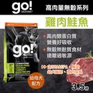 【毛麻吉寵物舖】Go! 87%高肉量無穀系列 雞肉鮭魚 幼犬配方 3.5磅(100克16包替代)