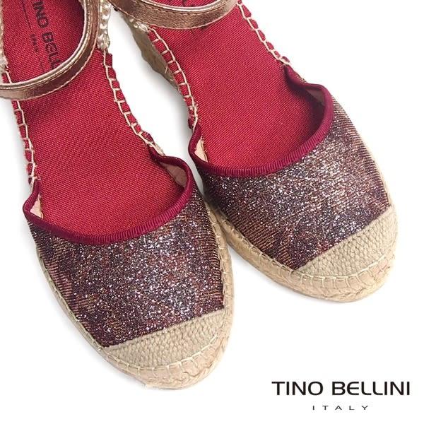 Tino Bellini 西班牙進口渡假風情繫踝麻底楔型鞋(紅)_A63073 2016SS 歐洲進口款