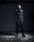 【找到自己】韓國暗黑 寬褲 龐克 復古 機佳褲 哈倫褲 鬆緊褲 運動褲 英倫 暗黑