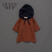 Queen Shop【01037441】童裝 親子系列連帽短T 兩色售 S/M/L*現+預*