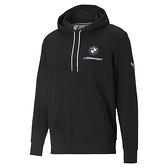 Puma BMW 男款 黑色 連帽上衣 棉質 運動 休閒 保暖 長厚連帽 T恤 53101701