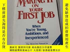 二手書博民逛書店MAKING罕見IT ON YOUR FIRST JOB:這是你的第一份工作(外文)Y212829