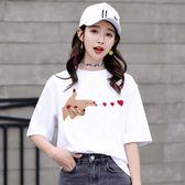 大碼T恤 兩件裝 白色t恤女短袖2018新款夏裝韓版學生ulzzang百搭寬鬆上衣【韓國時尚週】