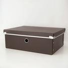 附蓋硬式紙整理收納盒M-咖【I0139-03】