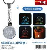 (木棉花)預購:鑰匙圈(LED燈雷雕)-刀劍神域ⅢA款(亞)