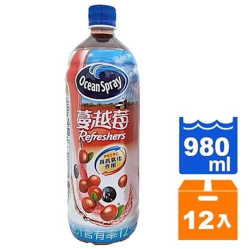優鮮沛蔓越莓綜合果汁飲料980ml(12入)/箱【康鄰超市】