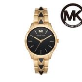 Michael Kors Runway 龐克搖滾個性手錶 金X黑不鏽鋼鍊帶 38MM MK6669