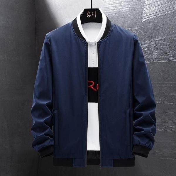 時尚男生外套 簡約男士外套 潮流外套潮牌外衣 男外套寬松百搭韓版外套 秋季休閒日系夾克外套