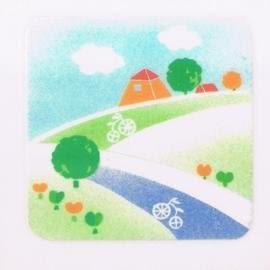 美飾小山坡轉印膠片10*10cm(6入)