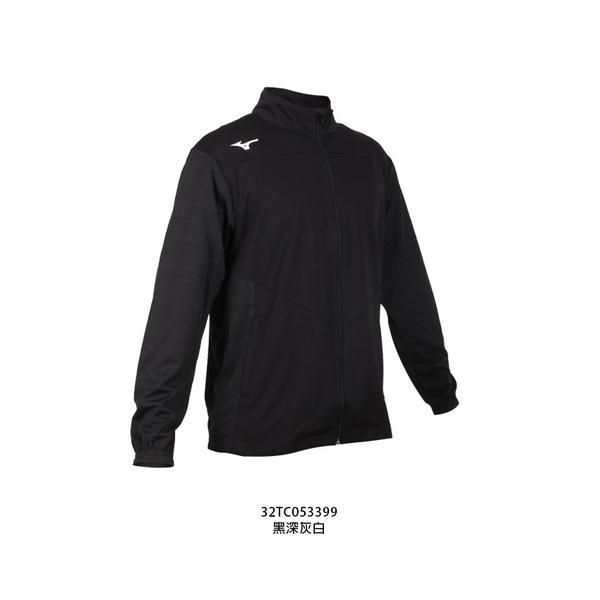MIZUNO 男針織運動外套(免運 吸濕速乾 抗UV 慢跑 立領外套 美津濃≡排汗專家≡