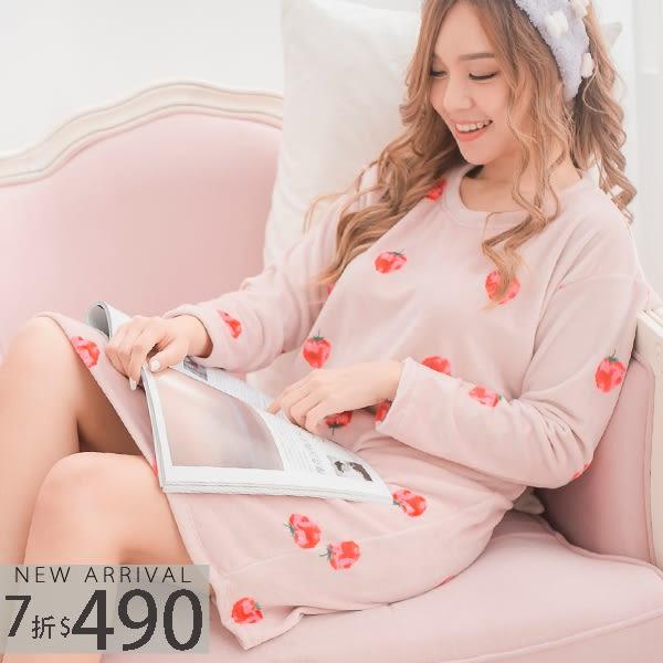 甜美草莓睡裙