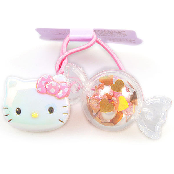 【震撼精品百貨】Hello Kitty 凱蒂貓~HELLO KITTY立體糖果搖搖髮束